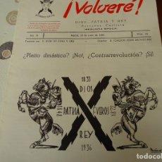 Militaria: VOLVERE Nº 22 15 DE JUNIO DE 1966. Lote 173850415