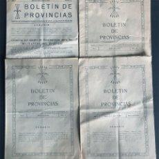 Militaria: FALANGE ESPAÑOLA / 4 EJEMPLARES / BOLETIN DE PROVINCIAS / AÑOS 1943-1944. Lote 175792990