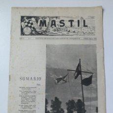 Militaria: ANTIGUA REVISTA MASTIL - BOLETIN MANDOS CAMPAMENTOS JUEVENTUDES FALANGE - 1952 - JEFES DE PRIMERA, E. Lote 175837470