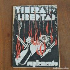 Militaria: TIERRA Y LIBERTAD / SUPLEMENTO / AÑO II BARCELONA MAYO 1933 REPUBLICA / NUM. 10 REVISTA / ANARQUISMO. Lote 176886160