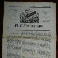 Militaria: EL CAÑON RAYADO, PERIODICO METRALLA DE LA GUERRA DE AFRICA, 10 DE MARZO 1860, NUM. 20, TIENE 4 PAGI. Lote 177120303