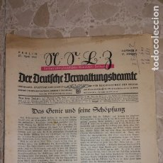 Militaria: REVISTA ALEMANA DEL NSDAP, BERLIN, AÑO 1941.EPOCA III REICH. Lote 177591140