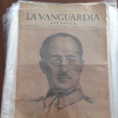 Militaria: LOTE 15 EJEMPLARES LA VANGUARDIA ORIGINALES SUPLEMENTO GRÁFICO ESPECIAL EL CAUDILLO, 1939. Lote 177726492
