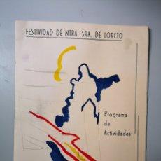 Militaria: PROGRAMA DE ACTIVIDADES NUESTRA SEÑORA DE LORETO 1994 EJERCITO DEL AIRE - EA ALA 11 - MANISES. Lote 178004419