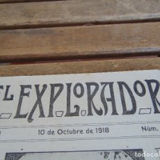 Militaria: REVISTA EL EXPLORADOR BOYS SCOUTS ESCULTISMO Nº 80 OCTUBRE 1918. Lote 178689947