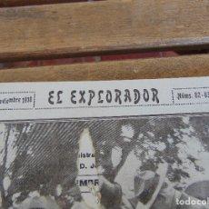 Militaria: REVISTA EL EXPLORADOR BOYS SCOUTS ESCULTISMO Nº 82 83 NOVIEMBRE 1918. Lote 178690202