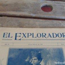 Militaria: REVISTA EL EXPLORADOR BOYS SCOUTS ESCULTISMO Nº 167 FEBRERO 1923. Lote 178695050