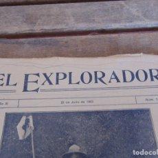 Militaria: REVISTA EL EXPLORADOR BOYS SCOUTS ESCULTISMO Nº 172 JULIO 1923. Lote 178707851
