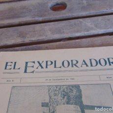 Militaria: REVISTA EL EXPLORADOR BOYS SCOUTS ESCULTISMO Nº 174 SEPTIEMBRE 1923. Lote 178708091
