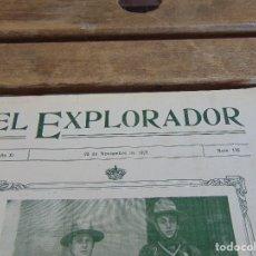 Militaria: REVISTA EL EXPLORADOR BOYS SCOUTS ESCULTISMO Nº 176 NOVIEMBRE 1923. Lote 178708321