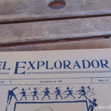 Militaria: REVISTA EL EXPLORADOR BOYS SCOUTS ESCULTISMO Nº 212 NOVIEMBRE 1926. Lote 178710692