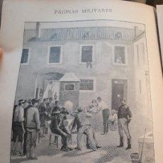 Militaria: PAGINAS MILITARES -LA PRIMERA OPERACION - EL CORTE DE PELO - RECORTE REVISTA AÑO 1896 - . Lote 178839161