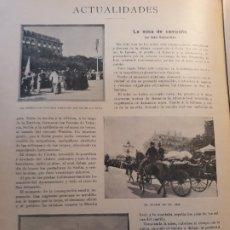 Militaria: MISA DE CAMPAÑA EN SAN SEBASTIAN . ANTES DEL EMBARQUE PARA LA GUERRA DE CUBA -RECORTE DEL AÑO 1896. Lote 178839581