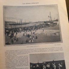 Militaria: LOS ULTIMOS EMBARQUES HACIA LA GUERRA DE CUBA - RECORTE REVISTA DE 1896- FOTOS DE MALAGA Y ZARAGOZA. Lote 178840271