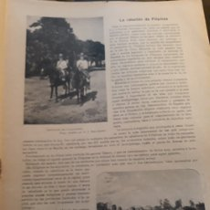 Militaria: LA REBELION DE FILIPINAS - RECORTE DE REVISTA AÑO 1896 - FOTOGRAFIAS. Lote 178841687