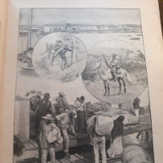 Militaria: LA GUERRA EN CUBA HOJA DE REVISTA 1896. Lote 178855180