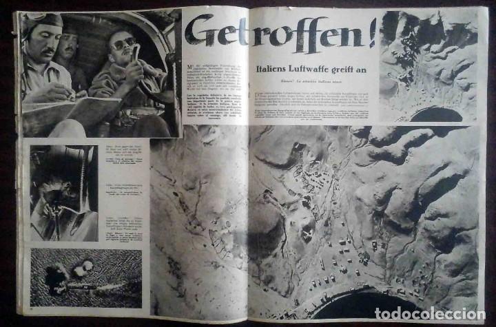 Militaria: Der Adler Nº 19 / 17 Septiembre 1940. Golpe tras golpe. Edición en alemán y español. - Foto 3 - 194407552