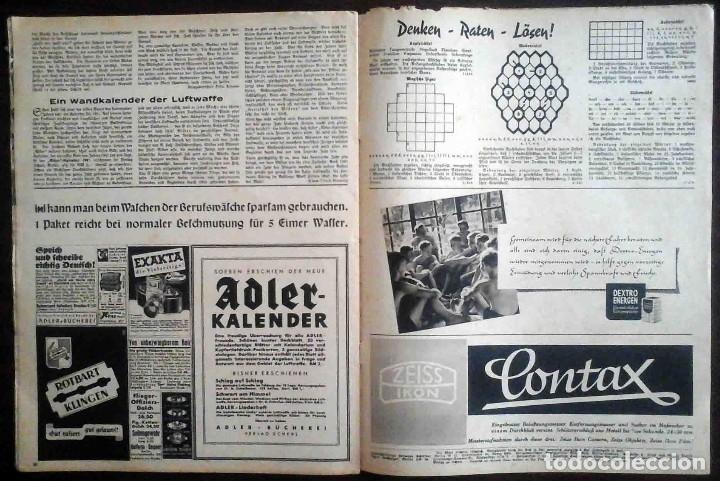 Militaria: Der Adler Nº 19 / 17 Septiembre 1940. Golpe tras golpe. Edición en alemán y español. - Foto 4 - 194407552