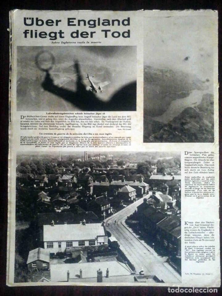 Militaria: Der Adler Nº 19 / 17 Septiembre 1940. Golpe tras golpe. Edición en alemán y español. - Foto 5 - 194407552