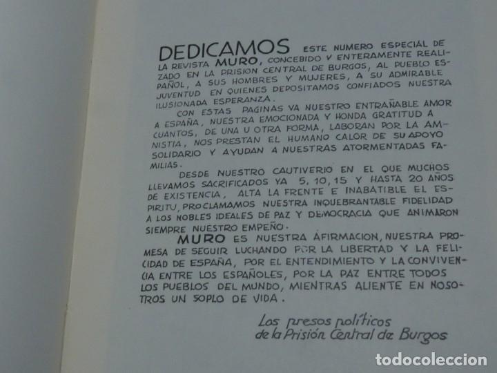 Militaria: DIFICIL REVISTA MURO PÁGINAS DE LA PRISIÓN 1961 EDITADO EN PARIS REPRESION FRANQUISTA - Foto 7 - 179102382