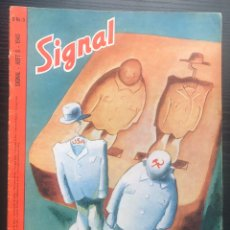 Militaria: SIGNAL MAGAZINE #5 FROM 1945, GERMAN EDITION. Lote 179160040