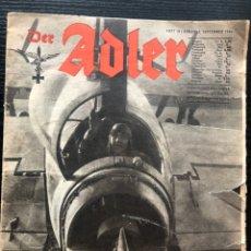 Militaria: DER ADLER MAGAZINE #18 FRIM 1944 , INTERNATIONAL EDITION. Lote 179397323