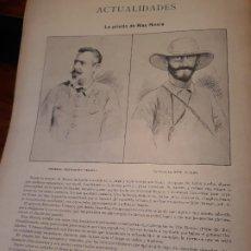 Militaria: GUERRA DE CUBA -PRISION DEL CABECILLA RIUS RIVERA - HOJA REVISTA AÑO 1897. Lote 179401251