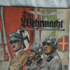 Militaria: EDICION ESPECIAL DE LA REVISTA DIE WEHRMACHT DEDICADA A LA VISITA DE HITLER A ITALIA EN 1938.. Lote 179708663