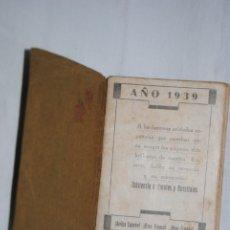 Militaria: FRENTES Y HOSPITALES , AGENDA 1939 .. Lote 179942841