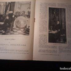 Militaria: GENERAL AZCARRAGA EN SU DESPACHO DURANTE LAS GUERRAS DE CUBA Y FILIPINAS - 2 PAGINAS , AÑO 1897 - . Lote 179963152