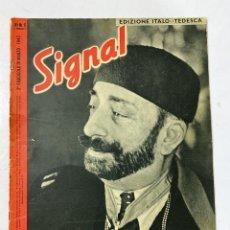 Militaria: SIGNAL. EDICION ITALO-TEDESCA. Nº 6. SEGUNDO NUMERO DE MARZO, 1943. BUEN ESTADO. VER FOTOS.. Lote 182255548