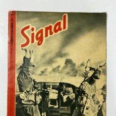Militaria: SIGNAL. ITALO-ALEMAN. Nº 22. SEGUNDO NUMERO DE NOVIEMBRE, 1941. BUEN ESTADO. VER FOTOS. Lote 182261408