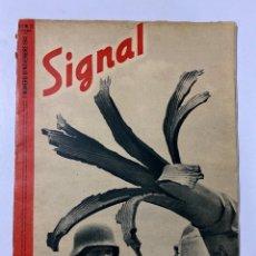 Militaria: SIGNAL. ITALO-ALEMAN. Nº 21. PRIMER NUMERO DE NOVIEMBRE, 1941. BUEN ESTADO. VER FOTOS. Lote 182261526