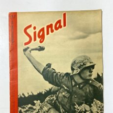Militaria: SIGNAL. ITALO-ALEMAN. Nº 20. SEGUNDO NUMERO DE OCTUBRE, 1941. BUEN ESTADO. VER FOTOS. Lote 182261668