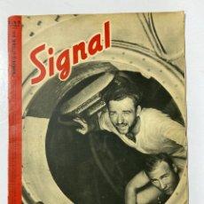 Militaria: SIGNAL. ITALO-ALEMAN. Nº 19. PRIMER NUMERO DE OCTUBRE, 1941. BUEN ESTADO. VER FOTOS. Lote 182261806
