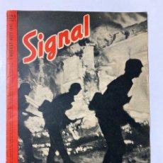 Militaria: SIGNAL. ITALO-ALEMAN. Nº 15. PRIMER NUMERO DE AGOSTO, 1941. BUEN ESTADO. VER FOTOS. Lote 182262195