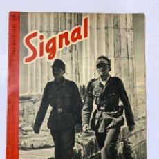 Militaria: SIGNAL. ITALO-ALEMAN. Nº 11. PRIMER NUMERO DE JUNIO, 1941. BUEN ESTADO. VER FOTOS. Lote 182262575