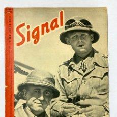 Militaria: SIGNAL. ITALO-ALEMAN. Nº 19. PRIMER NUMERO DE MARZO, 1941. BUEN ESTADO. VER FOTOS. Lote 182262813