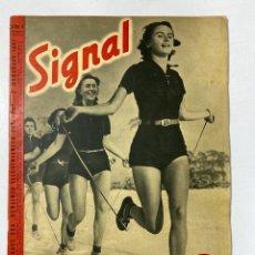 Militaria: SIGNAL. ITALO-ALEMAN. Nº 6. SEGUNDO NUMERO DE MARZO, 1941. BUEN ESTADO. VER FOTOS. Lote 182263118