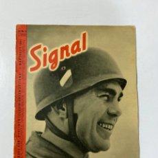 Militaria: SIGNAL. ITALO-ALEMAN. Nº 5. PRIMER NUMERO DE MARZO, 1941. BUEN ESTADO. VER FOTOS. Lote 182263228