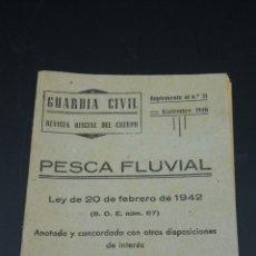 Militaria: GUARDIA CIVIL REVISTA OFICIAL DEL CUERPO SUPLEMENTO AL Nº31 NOVIEMBRE 1946. Lote 182586257