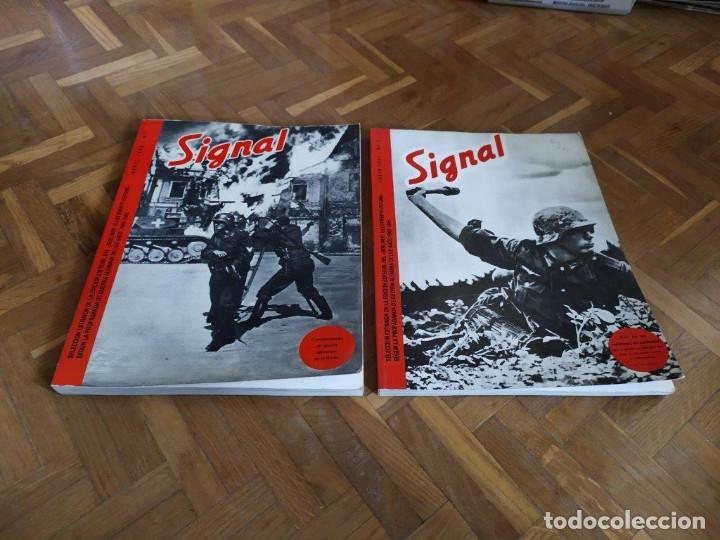 TOMOS REVISTA SIGNAL Nº 1 Y 2. FASCIMILES EDICIONES EL ARQUERO. IDIOMA ESPAÑOL. (Militar - Revistas y Periódicos Militares)
