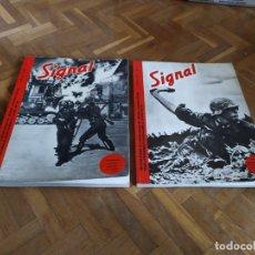 Militaria: TOMOS REVISTA SIGNAL Nº 1 Y 2. FASCIMILES EDICIONES EL ARQUERO. IDIOMA ESPAÑOL.. Lote 182782843