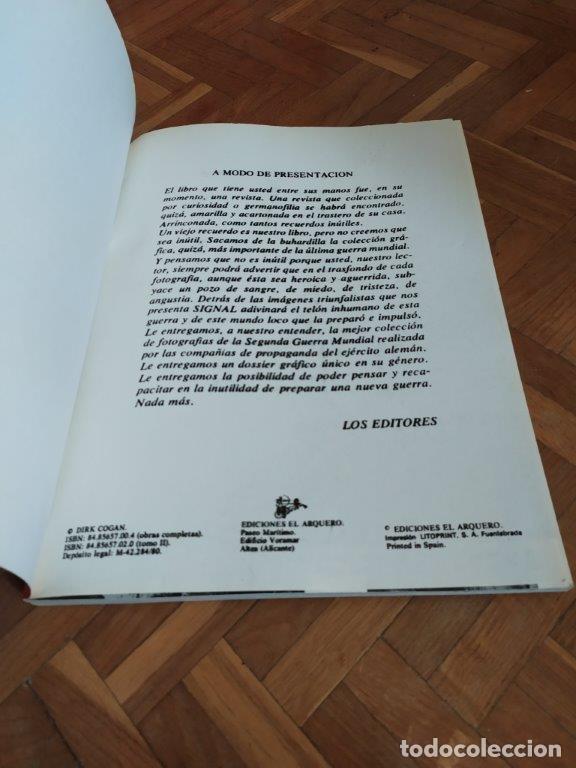 Militaria: TOMOS REVISTA SIGNAL Nº 1 Y 2. FASCIMILES EDICIONES EL ARQUERO. IDIOMA ESPAÑOL. - Foto 2 - 182782843