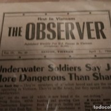 Militaria: PERIÓDICO THE OBSERVER VIETNAM 1966. Lote 183497440