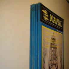 Militaria: NAVAL. LOTE 8 REVISTA INTERNACIONAL DE MARINA MERCANTE Y FUERZAS NAVALES Nº 2, 3, 4, 6, 7, 8, 9 Y 10. Lote 183505998