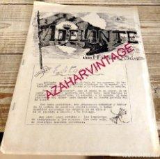 Militaria: FALANGE,ADELANTE, REVISTA DE LA CENTURIA JOSE MARIA PATIÑO, HUELVA,1951, NUM. 1, 12 PAGINAS,RARISIMA. Lote 183665408