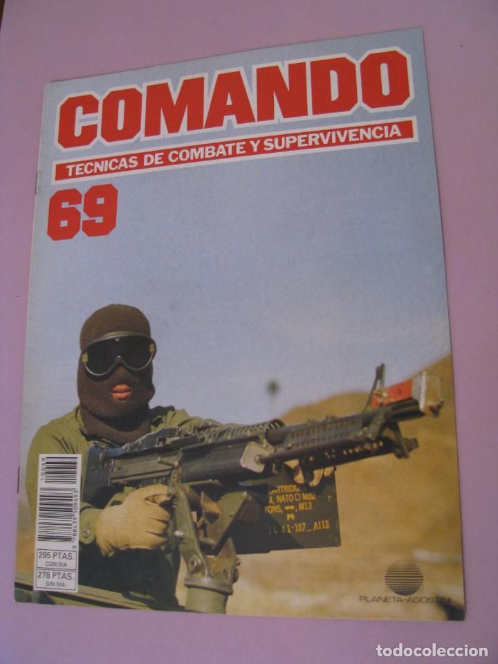 COMANDO, TÉCNICAS DE COMBATE Y SUPERVIVENCIA. 1988. FASCICULOS Nº 69. (Militar - Revistas y Periódicos Militares)