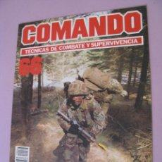 Militaria: COMANDO, TÉCNICAS DE COMBATE Y SUPERVIVENCIA. 1988. FASCICULOS Nº 66.. Lote 184190330