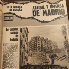 Militaria: GUERRA CIVIL ESPAÑOLA - ATAQUE Y DEFENSA DE MADRID - 20 PAGINAS AÑO 1971. Lote 184889783